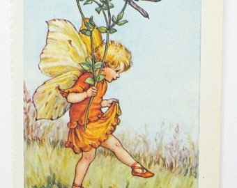 Bird's Foot Trefoil Fairy, Flower Fairy, Flower Fairies of the Wayside Picture, Cicely Mary Barker Print, Fairy picture
