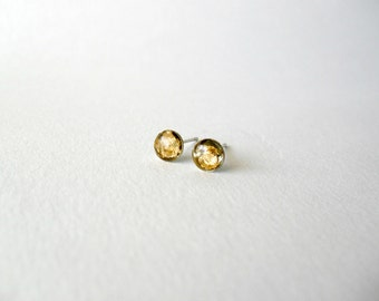 Tiny gold post earrings- Gold leaf studs- elegant feminine jewelry