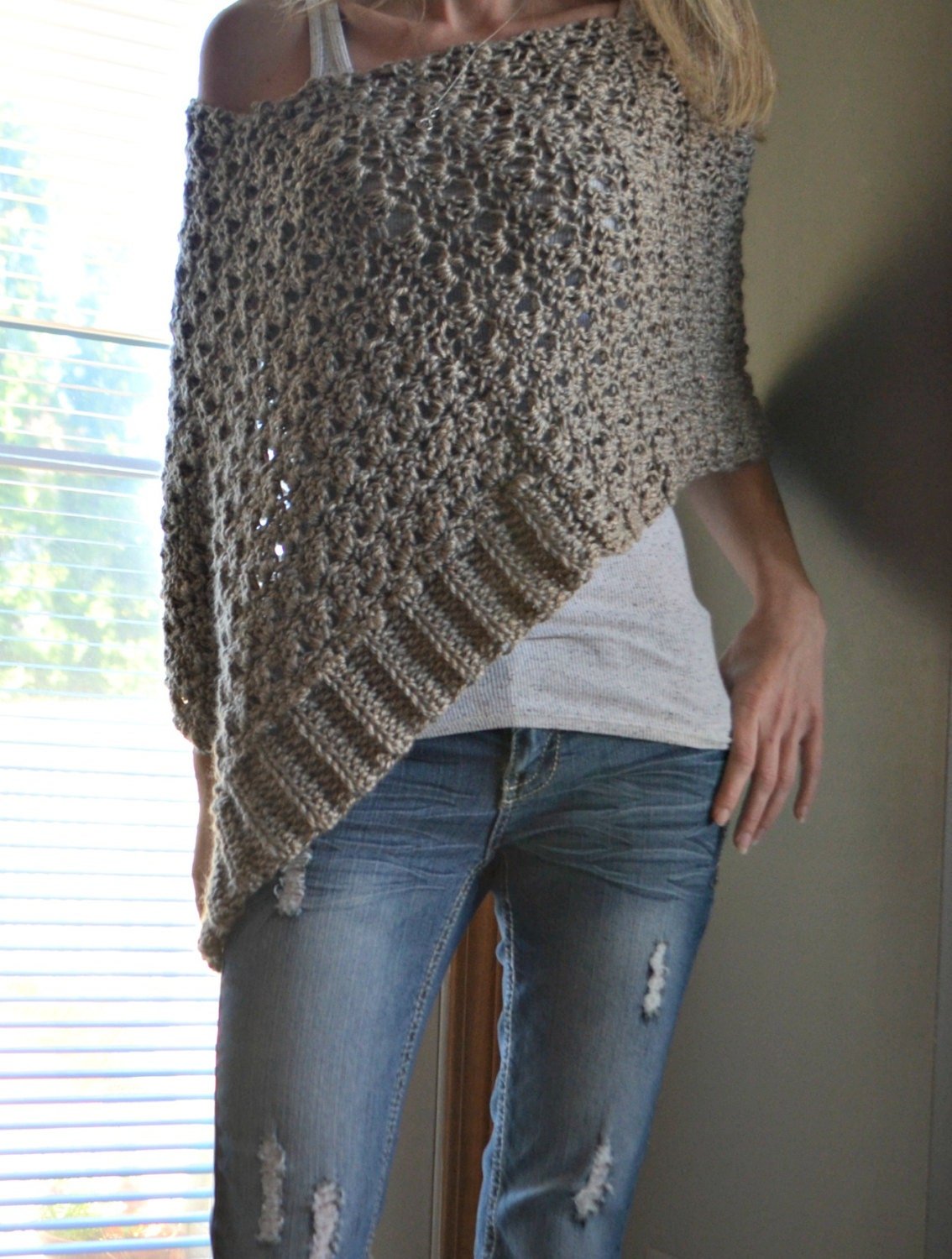 Crochet Patterns For Ponchos : CROCHET PATTERN Delia Precious Poncho Crochet by CassJamesDesigns