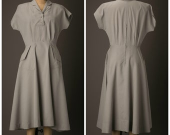 1950s Dress | George Hess Original | Black and White Day Dress