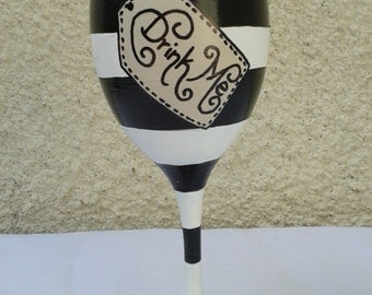 Alice in Wonderland Inspired 'Drink Me' Design Wine Glass