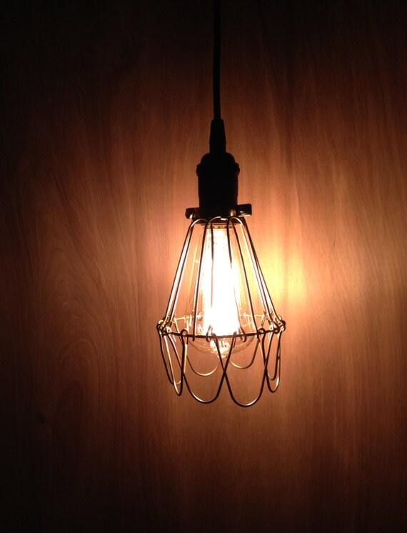 Industriel fil cage luminaire suspendu eclairage style for Suspension luminaire cage