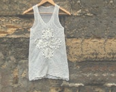 FREE SHIPPING, summer white crochet cotton top for women, handmade top, natural materials