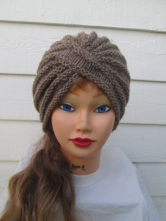 Crochet Pattern Turban Hat : Items similar to Fashion turban Womens turban crochet ...