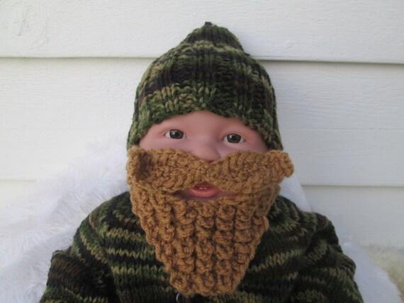 Long Beard Camouflage Baby Bearded Hat Knit Hats