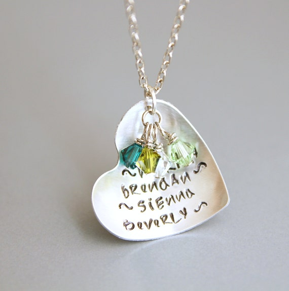 Onestep Earrings: Items Similar To Blended Love, Hand Stamped Necklace, Step