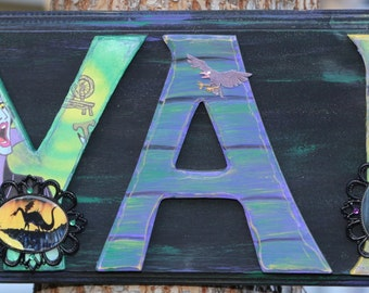 Maleficent Name Plaque - Customize by Name, Colors and Characters!