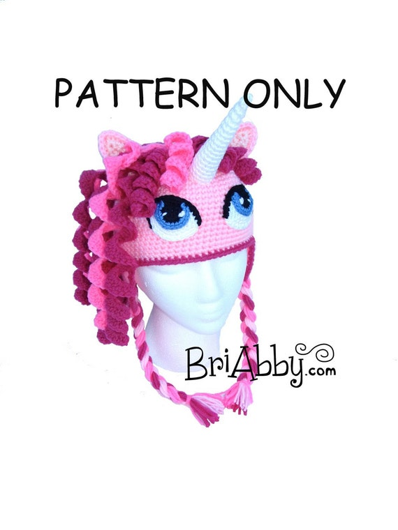 Crochet Unicorn/ Pony Hat Pattern PDF FILE