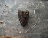My Charred Heart Natural Driftwood Heart Sculpture Wall Hanging: Driftwood Found Art / Beach House Decor