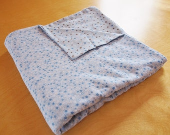 Baby Boy Soft and Cozy Flannel Blanket - Stars and Polka Dots