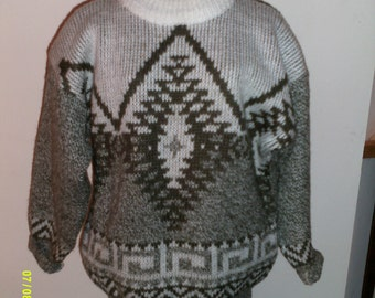 Womens Vintage  Pull Over Patterned Sweater, size Large 12-14  by Together