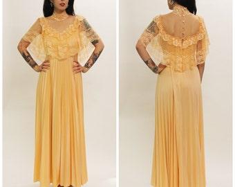 Vintage 70's Lace Maxi Dress