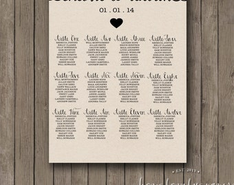 Printable Seating Chart - the Ella Collection