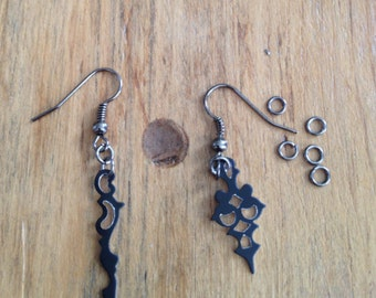 Small Clock Hand Earrings