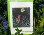 Moon gazing hare card