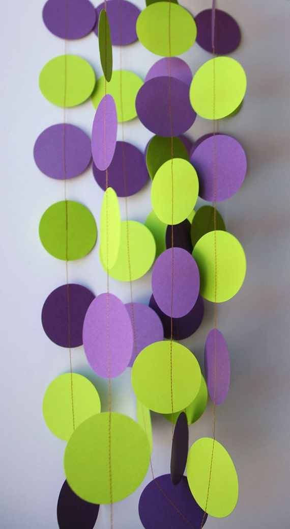 Purple Green Wedding Garland
