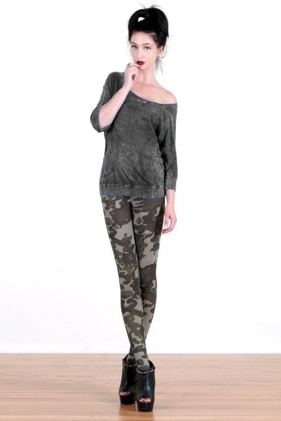 Grunge Camo Printed Leggings by ToughLuvShop on Etsy