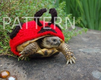 NEW crochet PATTERN instructions for Ladybug cozy for tortoises