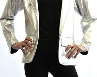 Yves Saint Laurent 80's Silver Jacket