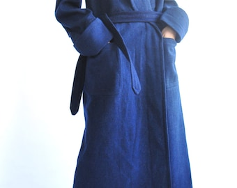 Hopital Militaire H.M Logo Wool Long Gown