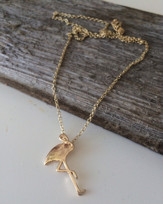 Cute flamingo pendant necklace