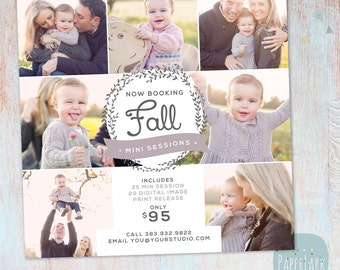 Photography Marketing Board - Fall/Autumn Mini Sessions - Photoshop template - IW012 - INSTANT DOWNLOAD