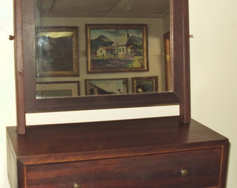 Antique Shaving Mirror Early American 1820's