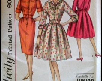"Simplicity 4169  Junior Petites One Piece Dress with two skirts  Bust 31""  UNCUT"