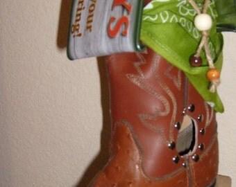 Cowboy Boot Birdhouse BH18