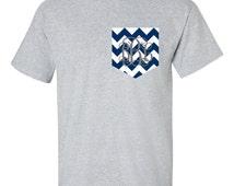 Monogram Pocket t shirt Gifts for Teen Girls Personalized Monogrammed Gifts Monogram Shirt Teen Girls Gifts Pocket tshirt