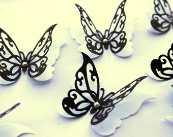 Black butterfly wall art - Black butterflies - Home decor - Wall art - Butterfly wall art - Butterfly decor - 3d butterflies - Nursery ideas