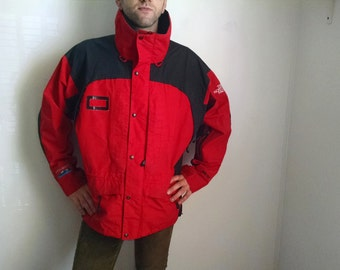 Red and Black Northface Goretex Shell