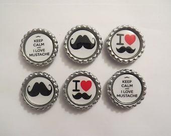 Mustache Magnet Set