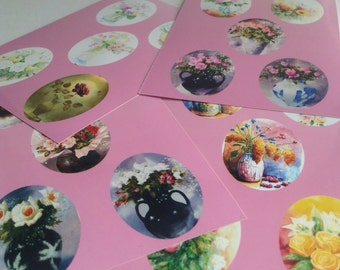 30x40mm Oval Cameo Photos & Stickers, 20 with 20 resin epoxy stickers, DIY, photo cameos, fit photo stretch bracelet, Greece