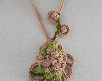 Crochet Necklace Pendant