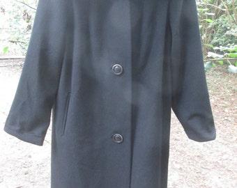 1950s Cosmoplitan Juniors New York wool coat with mink collar