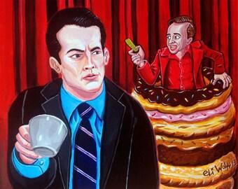 Coffee and Donuts -- 8x10 Art Print