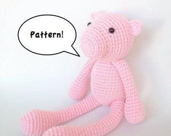 Amigurumi Pig Pattern, Crochet Pig Pattern, Amigurumi Piglet, Piggy Crochet Pattern, Pig Knitting Pattern
