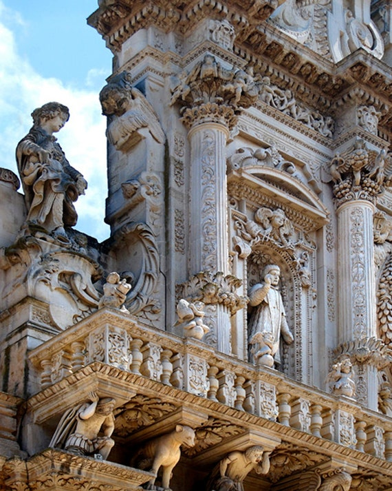 Baroque Italian Church Photography - Ornate Architecture Detail    Italian Baroque Architecture