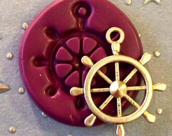 Nautical Sailor Boat Wheel 28mm Flexible Silicone Mold