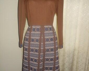 Brown Vintage Day Dress