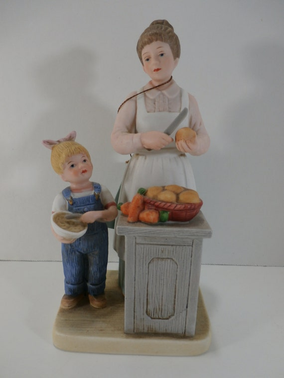 Home Interiors Denim Days Helping Mom Figurine By