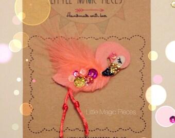 Flamingo Hair Clip - Summer