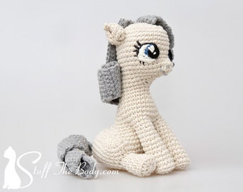 Sitting Pony Amigurumi Pattern, Seamless Pony Crochet Pattern, baby shower, gifts for girls, presents for kids, diy gifts, toy pattern