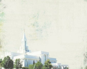 Bountiful LDS Temple. Utah. Instant Download.