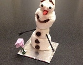 """Inspired by Frozen """"Olaf"""" Snowman Party Favor - Marshmallows and Chocolate chips"""