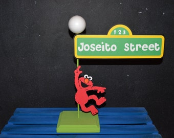 Sesame Street Sign with Stand And Childs Name And Elmo