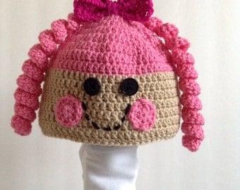 Crochet Lalaloopsy Hat, Lalaloopsy, Winter Hat, Sew Magical, Sew Cute, lala loopsy