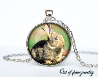Hare pendant Hare necklace Hare jewelry nature necklace
