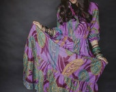 Tranquil Lilac Bohemian Dress, Boho Maxi Dress for Spring and Summer